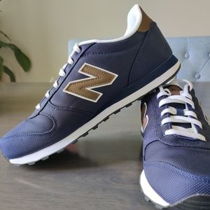New Balance 311 - Navy with brown leather accents
